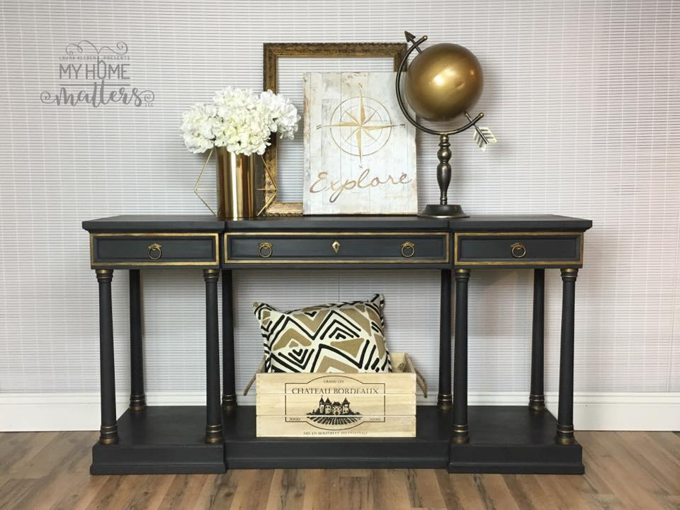Console Table - black & gold
