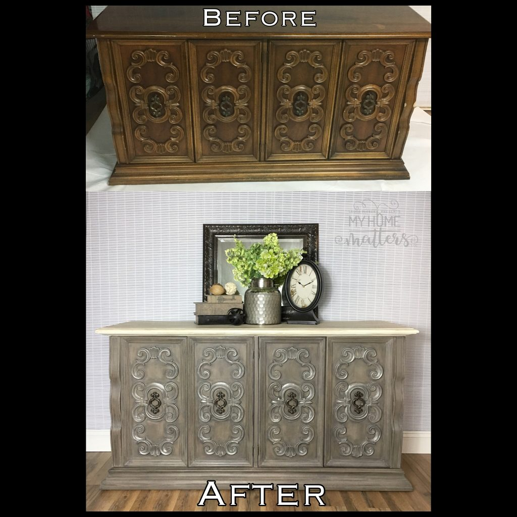 Server In French Linen & Coco Before & After