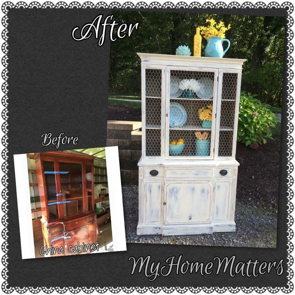 Stromski china hutch before and after