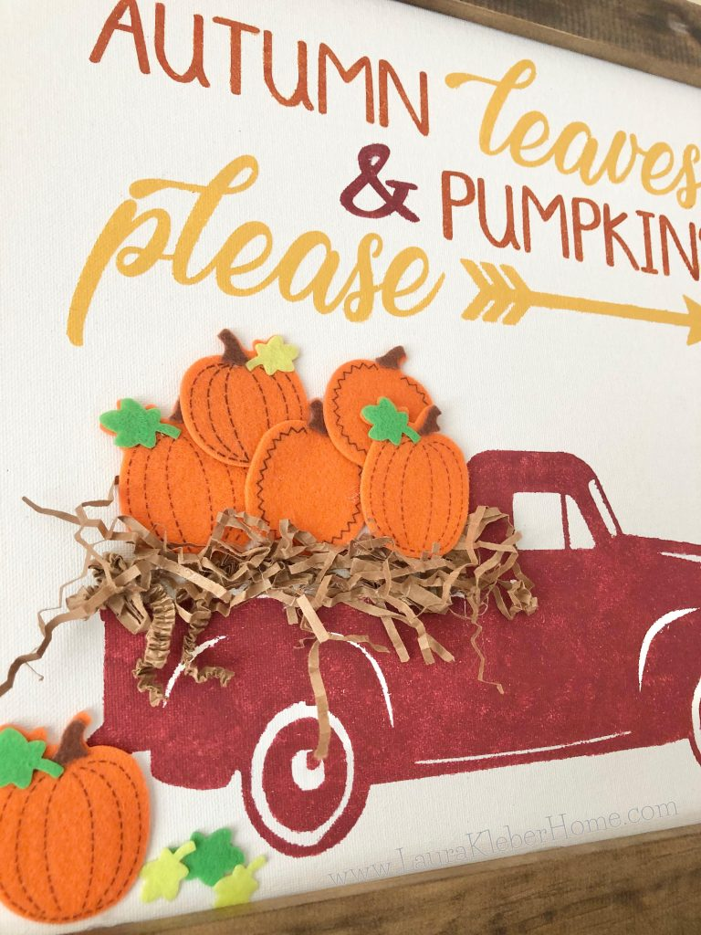 Using a fall banner to add layers to a Fall mantel
