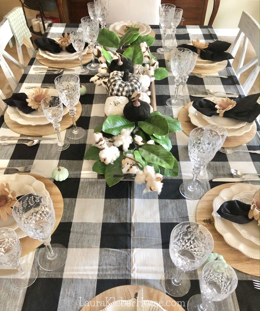 How To Incorporate Buffalo Check In A Dining Tablescape My Home Matters Llc