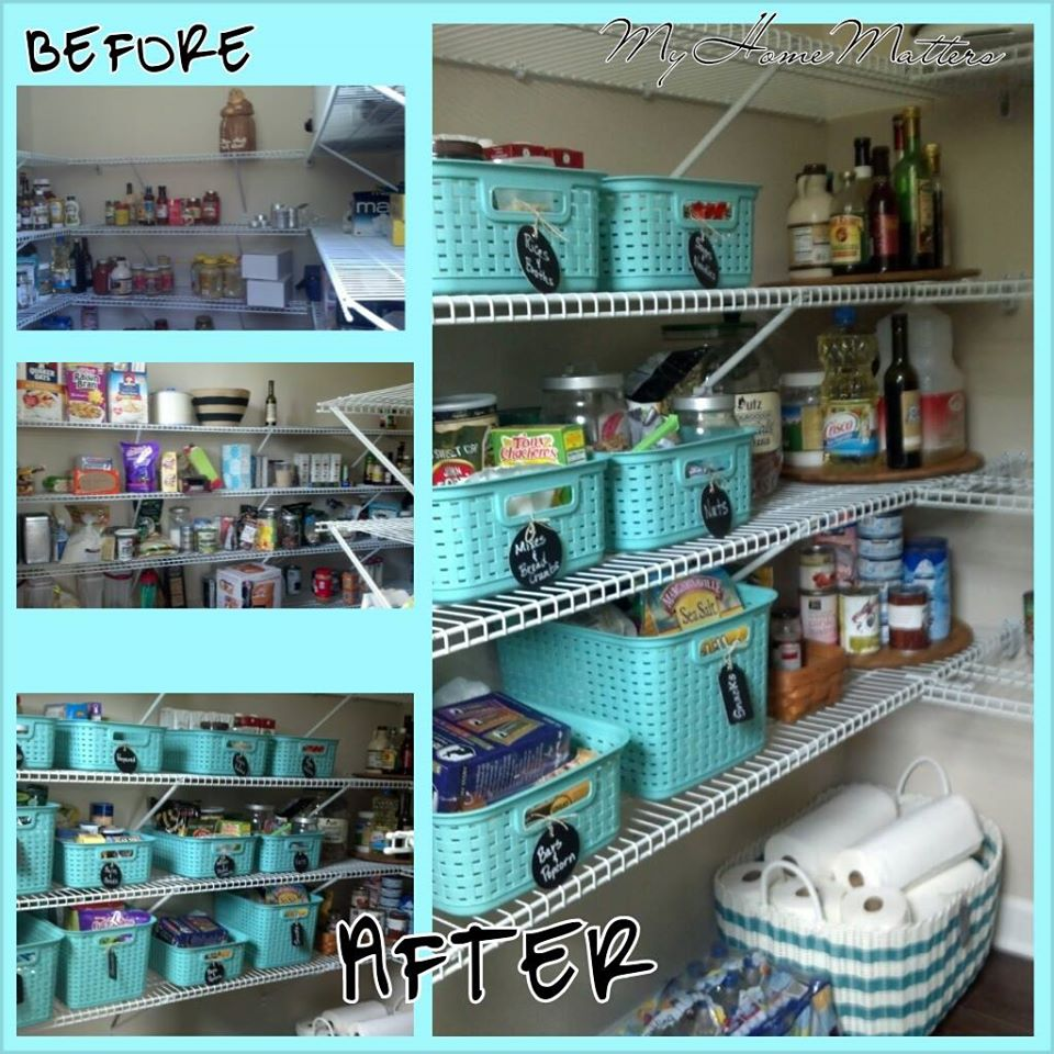 collage of pantry pictures
