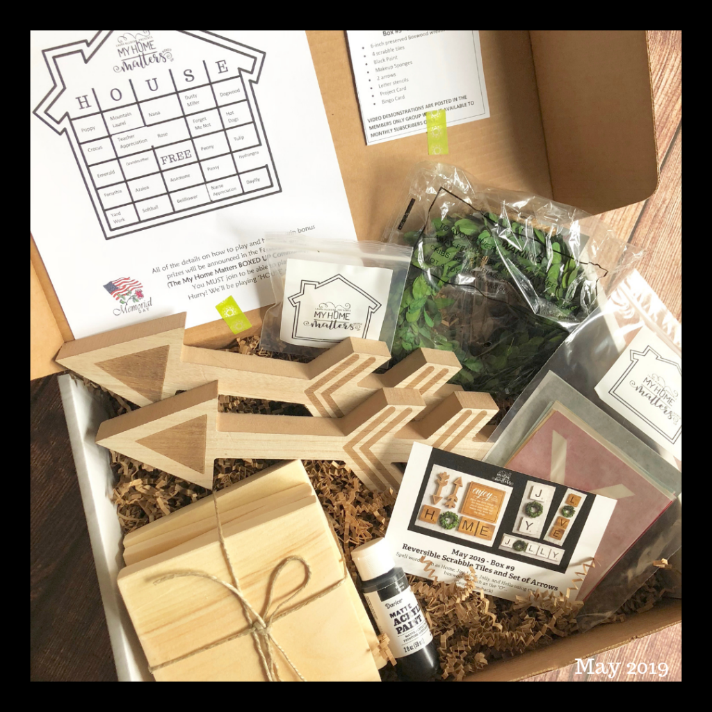 box of crafting supplies