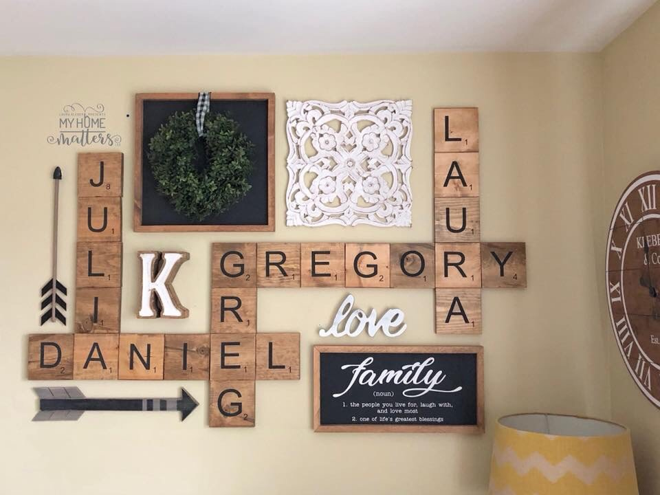 a personalized wall collage