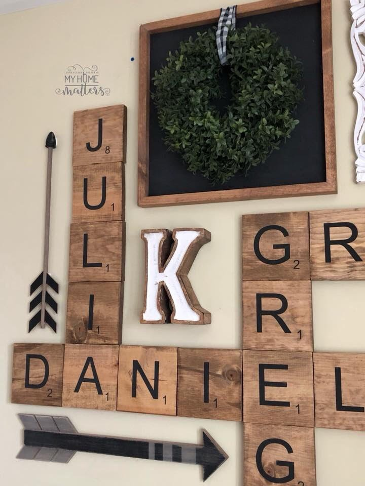 close up of a personalized wall collage