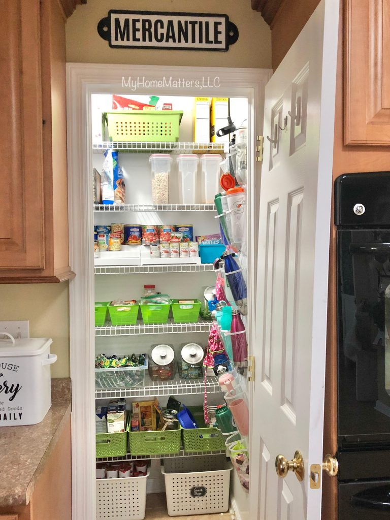 view of a pantry from inside a kitchen