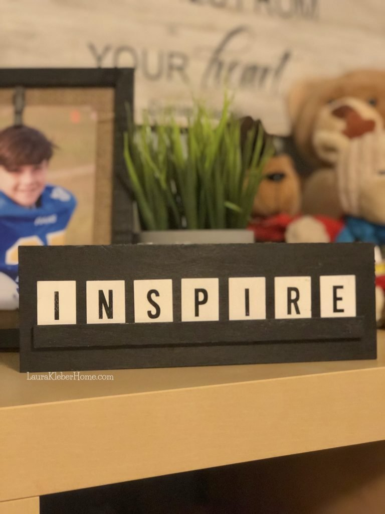 motivational sign that says 'inspire'