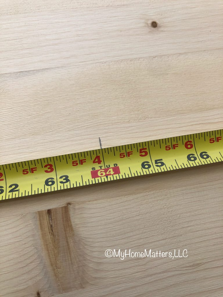 tape measure showing a measurement on wood