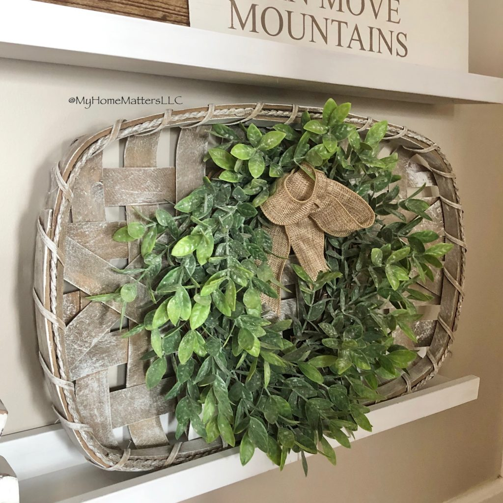 greenery hung off of a tobacco basket