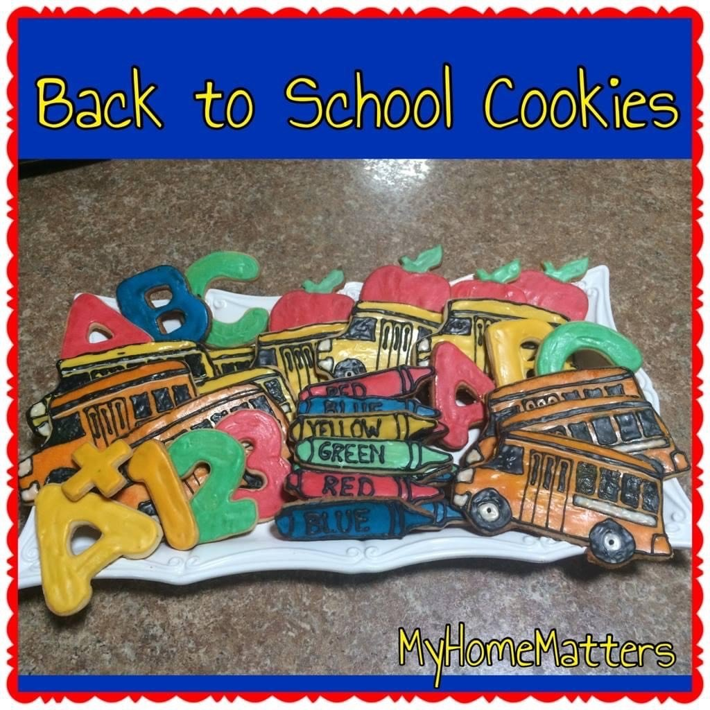 sugar cookies decorated for back to school