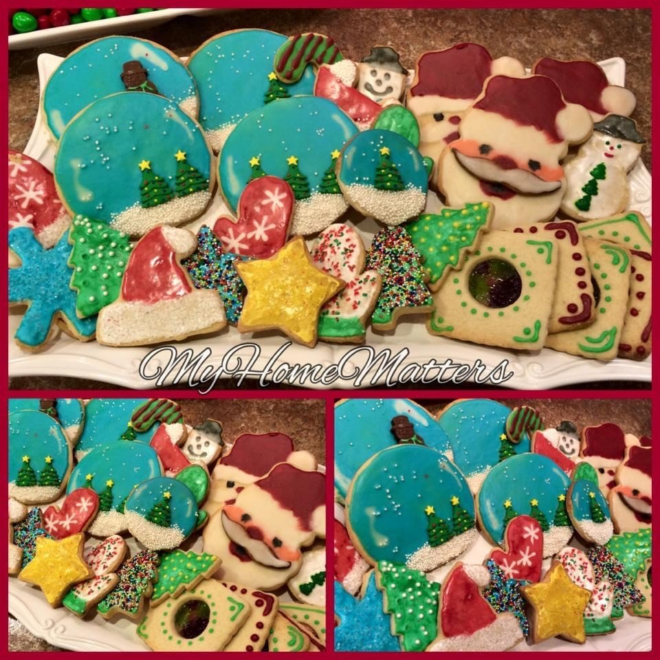 Christmas decorated sugar cookies